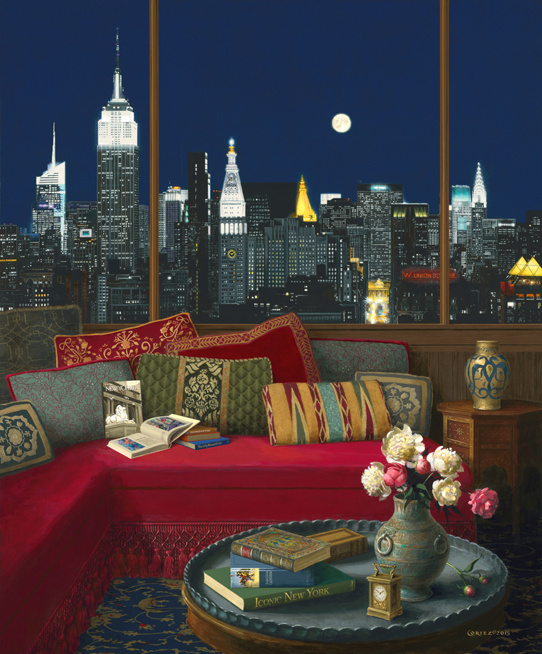 Manhattan in the Moonlight by ©Jenness Cortez