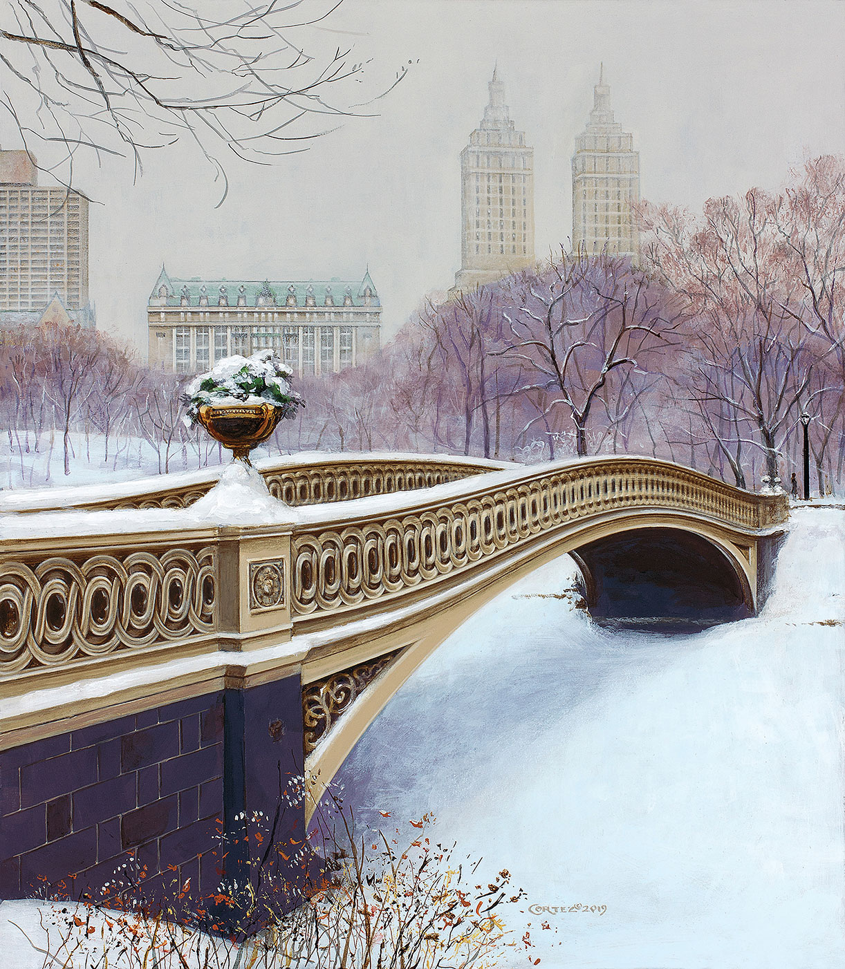 The Bow Bridge in Winter by Jenness Cortez