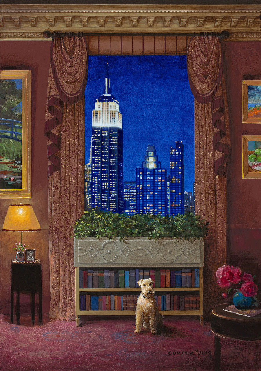 Manhattan Night Light by Jenness Cortez