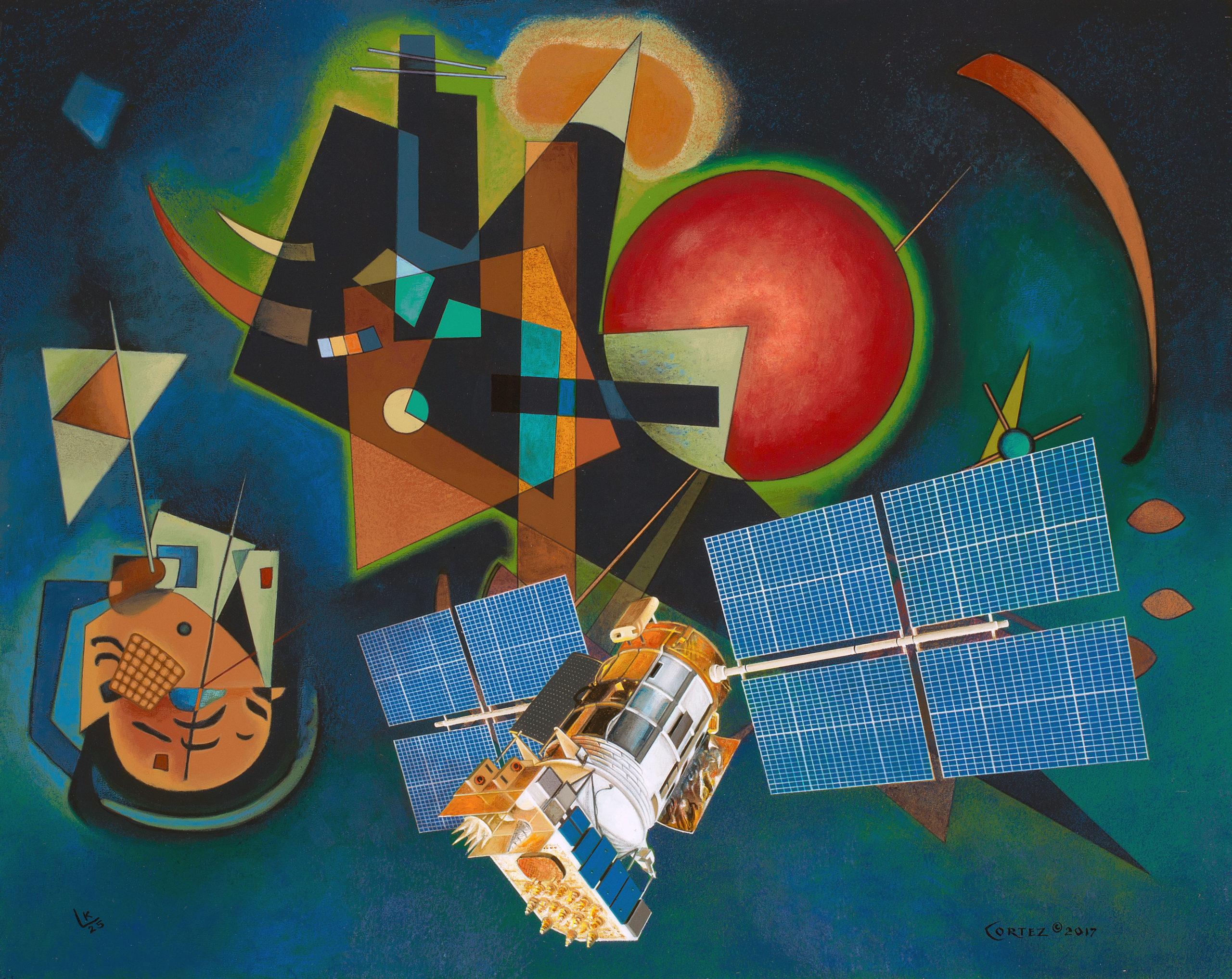 Kandinsky and Cortez GPS by ©Jenness Cortez